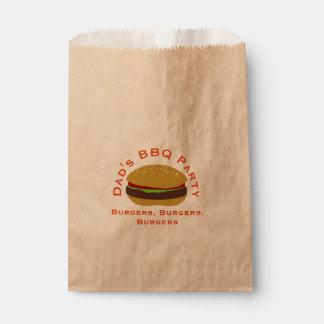 Dad's BBQ Party Burger Brown Kraft Bags