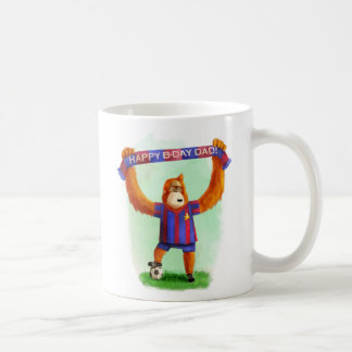 Dad's Birthday Football Orangutan Coffee Mug