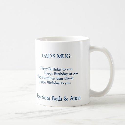 dad's birthday mug, DAD'S MUG,       Happy Birt...