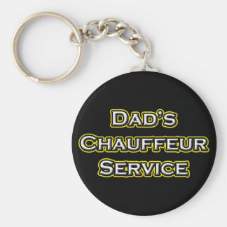 Dad's Chauffeur Service Basic Round Button Key Ring