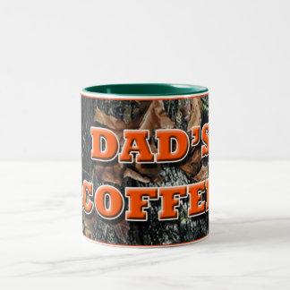 Dad's Coffee Camo Two-Tone Coffee Mug