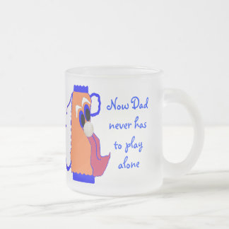 Dad's Comic Golf Bag Frosted Glass Mug