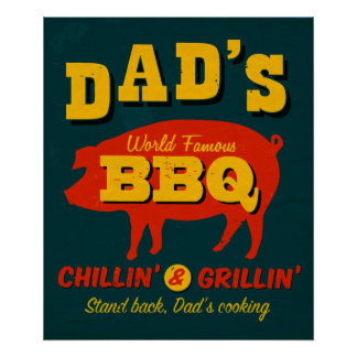 Dad's Cooking Poster