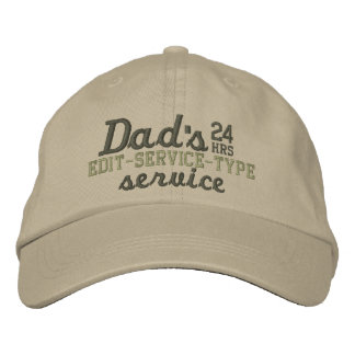 Dad's Customizable 24 HRS Service Have Fun! Embroidered Hats