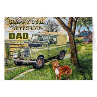 Dad's Eightieth :BOLD WORDING. Card