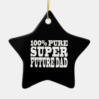 Dads & Fathers To Be : 100% Pure Super Future Dad Christmas Ornament
