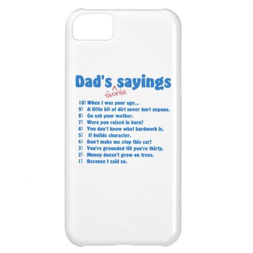 Dad's favorite sayings iPhone 5C cover