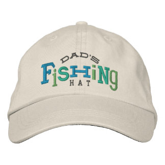 Dad's Fishing Embroidery Hat Embroidered Baseball Caps