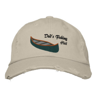 Dads Fishing Hat with Canoe Embroidered Hats