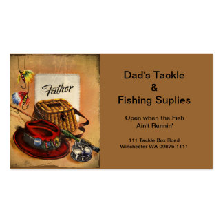 Dad's Fishing Tackle and Bait Pack Of Standard Business Cards