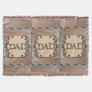 Dad's Fun word art throw blanket