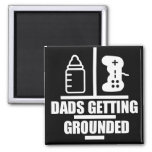 Dads Getting Grounded Logo Magnet
