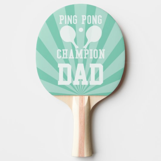Dad's Green Ping Pong Champion Paddle