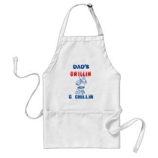 DAD'S Grillin & Chillin Standard Apron