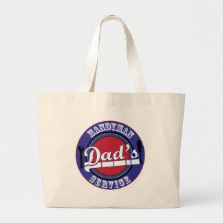 Dad's Handyman Service Jumbo Tote Bag