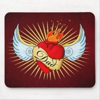Dad's Heart Mouse Mat