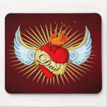 Dad's Heart Mouse Pad