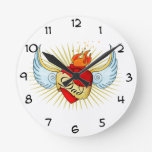 Dad's Heart Round Wall Clock