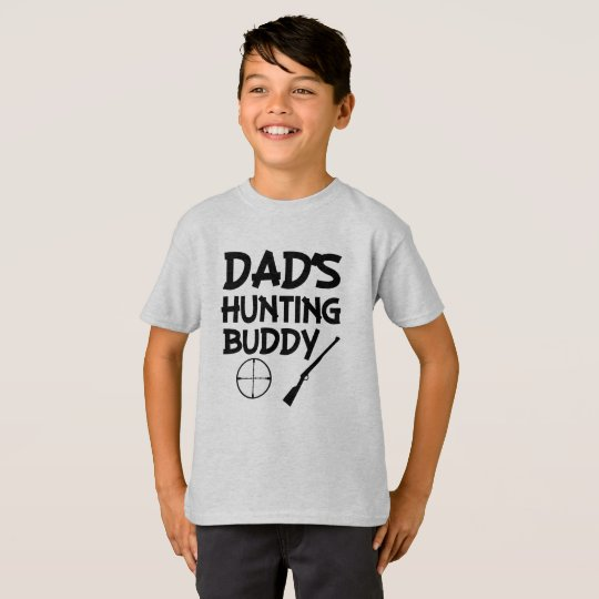 Dad's hunting buddy funny boys shirt