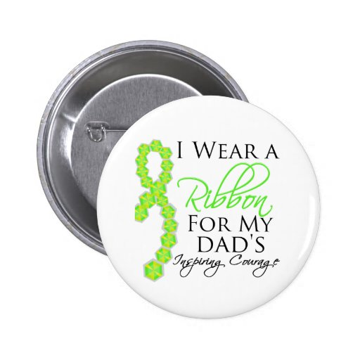 Dad's Inspiring Courage - Lymphoma Button