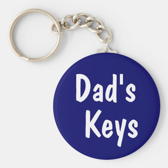 Dad's Keys Basic Round Button Key Ring