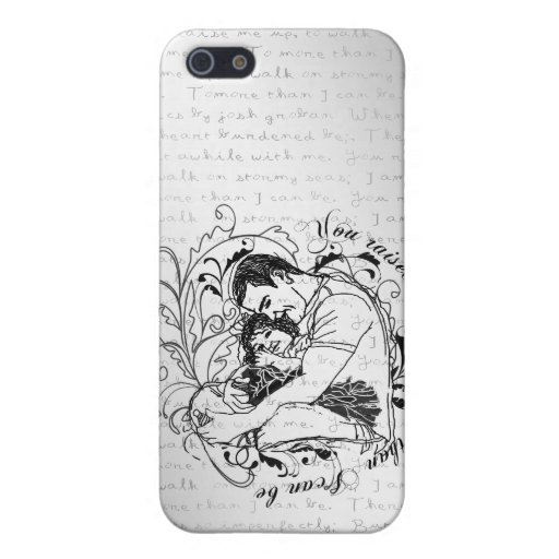 Dad's little girl line drawing text design iPhone 5 cases