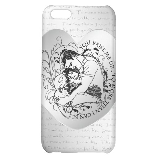 Dad's little girl line drawing text design case for iPhone 5C