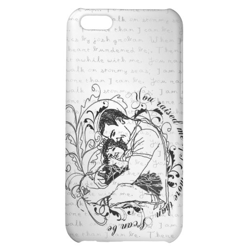 Dad's little girl line drawing text design iPhone 5C cases