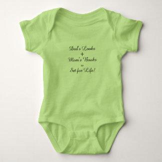 Dad's Looks + Mom's Books = Set for Life! Baby Bodysuit