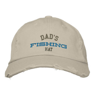 Dad's Lucky Fishing Embroidery Hat Embroidered Baseball Caps