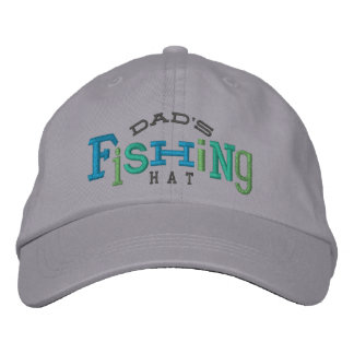 Dad's Lucky Fishing Embroidery Hat Embroidered Hat