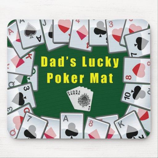 dads lucky poker mat mouse mats | Zazzle