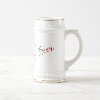 Dad's Merry and Bright Beer Christmas 18 Oz Beer Stein