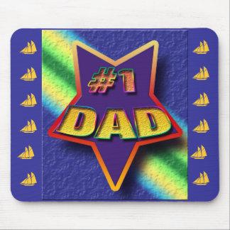 Dad's Mousepad (#1 Dad) Mousepads
