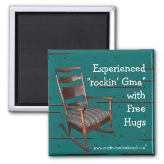 Dad's Ol Rocker Magnet-customize any occasion