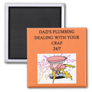 dad's plumbing service square magnet