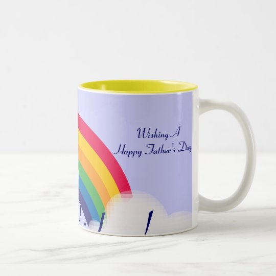 Dad's Rainbow!-Customise Two-Tone Coffee Mug