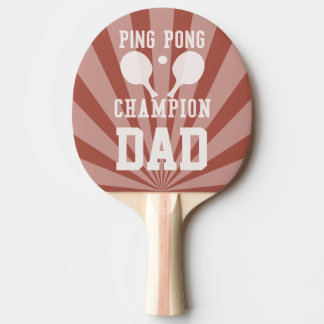 Dad's Red Ping Pong Champion Paddle