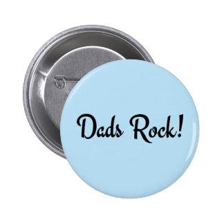 Dads Rock! 6 Cm Round Badge