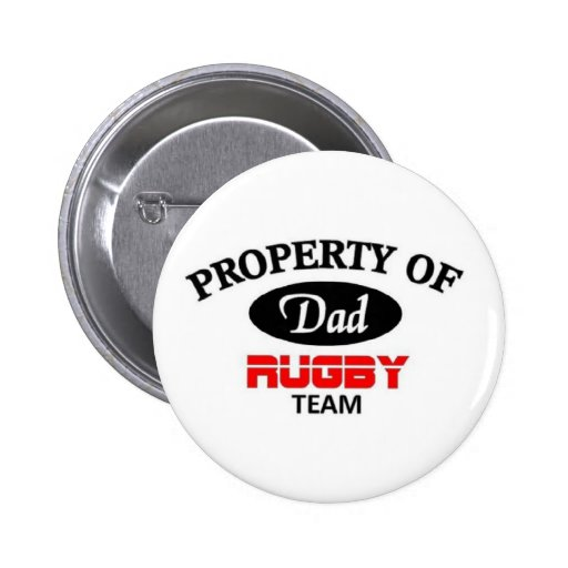 Dads rugby team buttons