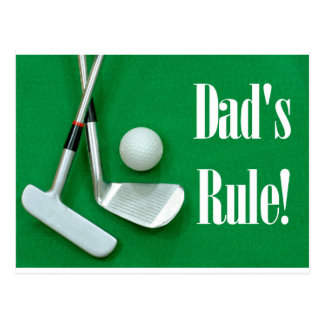 Dads Rule Father's DAy Postcard
