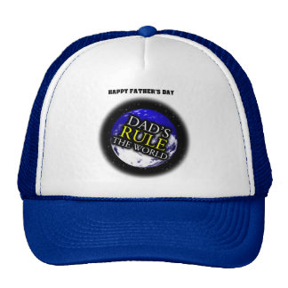 Dad's Rule The World Father's Day Hat