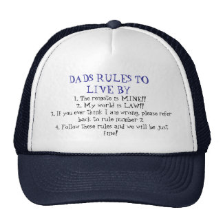 Dads Rules Mesh Hat
