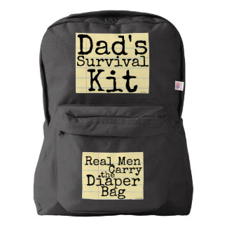 Dad's Survival Kit - Real Men Carry the Diaper Bag Backpack