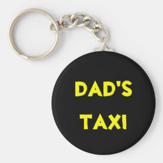 dad's taxi basic round button key ring