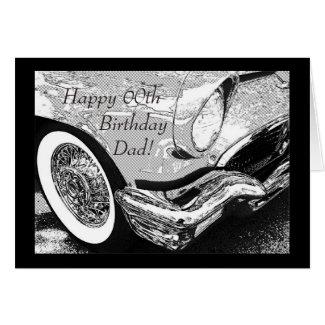 Dad's vintage car- birthday card