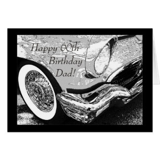 Dad's vintage car- birthday greeting card