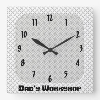 Dad's Workshop Square Wall Clock
