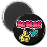 Daebak is Awesome in Bright Colours Refrigerator Magnet