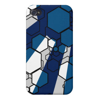 Daedal (Blue) iPhone Case Covers For iPhone 4
